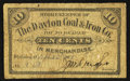 Obsoletes By State:Ohio, Wellston, OH- The Dayton Coal & Iron Co. 10¢ Sep. 3, 1907 Wolka2789-02. ...
