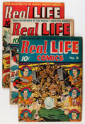 Golden Age (1938-1955):Non-Fiction, Real Life Comics Group (Nedor Publications, 1942-51) Condition:Average VG.... (Total: 17 Comic Books)
