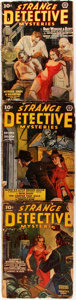 Books:Mystery & Detective Fiction, [Pulps].Strange Detective Mysteries,1940-1942. Three issues. Chicago: Popular Publications, [1940-1942]. Original pr... (Total: 3 Items)