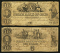 Obsoletes By State:Ohio, Cleveland, OH- The State Bank of Ohio, Merchants' BranchCounterfeit $10 (2) 1848-49 C412; C414 Wolka 0776-30; -32. ...(Total: 2 notes)