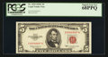 Small Size:Legal Tender Notes, Fr. 1535 $5 1953C Legal Tender Note. PCGS Superb Gem New 68PPQ.. ...