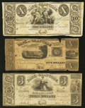 Obsoletes By State:Ohio, Granville,OH- The Bank of Granville - The Granville AlexandrianSociety $3; $5; $10 Remainder 1837-38 G18; G22; G24 Wolka 12...(Total: 3 notes)