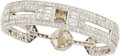 Estate Jewelry:Bracelets, Art Deco Colored Diamond, Diamond, Platinum Bracelet. ...