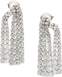 Diamond, Platinum Earrings, Van Cleef & Arpels