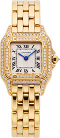 Estate Jewelry:Watches, Cartier Lady's Diamond, Gold Panthere Wristwatch. ...