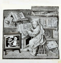 Books:Prints & Leaves, Magazine Production Proof of a Cartoon. The cartoon is a montage ofseveral photographs put together to create a humorous im...