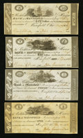 Obsoletes By State:Ohio, Mansfield, OH- The Richland & Huron Bank of Mansfield $1; $3;$5; $10 Dec. 1816 G12; G14; G16; G18 Wolka 1541-06; -08; -10; ...(Total: 4 notes)