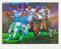 Football Collectibles:Others, Johnny Unitas Signed Lithograph. ...