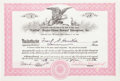 "Baseball Collectibles:Others, 1976 Elston Howard ""Catfish Hunter-Elston Howard Enterprises""Signed Stock Certificate...."