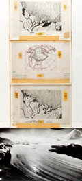 Books:Maps & Atlases, [Maps, Magazine Proofs]. Three Small Maps Depicting Rivers, TheGreat Lakes and the North Pole. All maps have transparent ov...