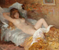 Fine Art - Painting, European:Contemporary   (1950 to present)  , MARCEL DYF (French, 1899-1985). Le repos de Claudine, 1968. Oil on canvas. 18 x 21-1/2 inches (45.7 x 54.6 cm). Signed l...