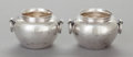 Silver Holloware, Mexican:Holloware, A PAIR OF MEXICAN SILVER-PLATED VASES. Maker unknown, mid-20th century. Marks: PLATA FINA, 0900. 1-7/8 x 3 x 2-5/8 inche... (Total: 2 )