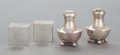 Silver Holloware, American:Other , TWO PAIRS OF ALLAN ADLER SILVER SALT AND PEPPER SHAKERS. AllanAdler, Inc., Studio City, California, circa 1950. Marks: AL...(Total: 4 Items)