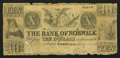 Obsoletes By State:Ohio, Norwalk, OH- The Bank of Norwalk Altered $10 July 1, 1847 A10 Wolka2005-34. ...