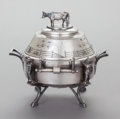Silver Holloware, American:Other , A REED & BARTON SILVER-PLATED COVERED BUTTER DISH. Reed &Barton, Taunton, Massachusetts, circa 1880. Marks: MF'D &PLATED...