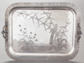 Other:American, A REED & BARTON SILVER-PLATED SERVING TRAY. Reed & Barton,Taunton, Massachusetts, mid-20th century. Marks: 4244, MF'D& P...