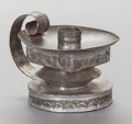 Other:American, A WILLIAM SPRATLING MEXICAN TIN CANDLE HOLDER. William Spratling,Taxco, Mexico, circa 1930. Marks: WS (conjoined),TA...