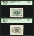 Fractional Currency:First Issue, Fr. 1243SP 10¢ First Issue Wide Margin Pair.. ... (Total: 2 notes)