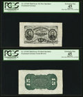 Fractional Currency:Third Issue, Fr. 1272SP 15¢ Third Issue Wide Margin Pair PCGS Apparent Extremely Fine 45.. ... (Total: 2 items)