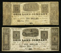 Obsoletes By State:Ohio, Medina, OH- The Ohio Land Company $1; $2 Mar. 1838 Wolka 1638-01;-05. ...