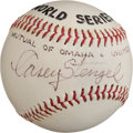 Autographs:Baseballs, 1972 Casey Stengel Single Signed Baseball....