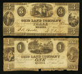 Obsoletes By State:Ohio, Medina, OH- The Ohio Land Company $1; $3 June 1, 1838 Wolka1638-04; -08. ... (Total: 2 notes)