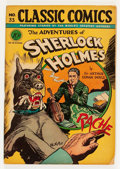Golden Age (1938-1955):Classics Illustrated, Classic Comics #33 The Adventures of Sherlock Holmes - First Edition(Gilberton, 1947) Condition: FN-....