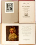 Books:Americana & American History, [Americana, George Washington]. Two Items Related to GeorgeWashington. Includes a reprint of Fisher Ames's Oration onthe... (Total: 2 Items)