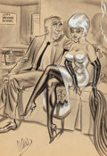 """Pin-up and Glamour Art, BILL WARD (American, 1919-1998). You Passed...All Right, Mrs.Haven, Now Let's Get the First Lesson, Which is Parking,"""" Hu..."""