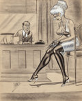 "Pin-up and Glamour Art, BILL WARD (American, 1919-1998). ""We Pay Beginners $100 TopSalary, But, Er...Of Course There Are Exceptions In UnusualCa..."