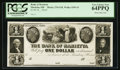 Obsoletes By State:Ohio, Marietta, OH- Bank of Marietta $1 G18 Wolka 1559-15 Proof. ...