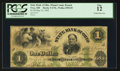 Obsoletes By State:Ohio, Troy, OH- State Bank of Ohio, Miami County Branch $1 May 22, 1862Haxby 5-UNL Wolka 2590-09. ...