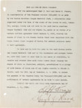 Baseball Collectibles:Others, 1916 Harry Frazee Signed Document. ...