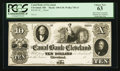 Obsoletes By State:Ohio, Cleveland, OH- Canal Bank of Cleveland $10 G10 Wolka 710-13 Proof....