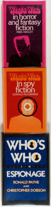 Books:Reference & Bibliography, [Books about Books, Genre Literature Reference]. Group of ThreeWho's Who Books for Spy Fiction, Horror and Fantasy and Espion...(Total: 3 Items)