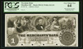 Obsoletes By State:Ohio, Massillon, OH- The Merchants Bank $1 G4 Wolka 1611-01 Proof . ...