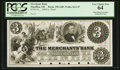 Obsoletes By State:Ohio, Massillon, OH- The Merchants Bank $3 G8P Wolka 1611-07 Proof. ...