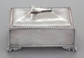 Silver Holloware, American:Boxes, A JAMES W.TUFTS SILVER-PLATED BOX. James W. Tufts, Boston,Massachusetts, circa 1875-1891. Marks: JAMES W. TUFTS,QUADRUPL...