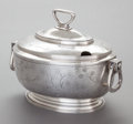 Silver Holloware, American:Other , A REED & BARTON HAMMERED SILVER-PLATED COVERED TUREEN. Reed& Barton, Taunton, Massachusetts, circa 1900. Marks: MF'D& PL...