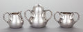 Silver & Vertu:Hollowware, A THREE PIECE JAMES W. TUFTS SILVER-PLATED SUGAR, CREAMER & JAM SET. James W. Tufts, Boston, Massachusetts, circa 1880. Mark... (Total: 3 )