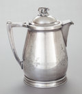 Silver Holloware, American:Coffee Pots, AN ADAMS HALLOCK SILVER-PLATED COFFEE POT. Adams Hallock & Co.,New York, circa 1870. Marks: B, TRADEMARK (tree),PAT....