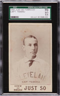 """Baseball Cards:Singles (Pre-1930), 1893 Just So Tobacco Capt. Tebeau SGC 70 EX+ 5.5 - The Finest """"Just So"""" Known! ..."""