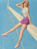 Pin-up and Glamour Art, PEARL ALERYN FRUSH (American, 20th Century). Take a Bow,Playtime Series. Pencil and watercolor on board. 17 x 12.75in....