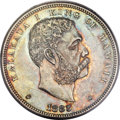 Coins of Hawaii, 1883 $1 Hawaii Dollar MS64+ PCGS. CAC....