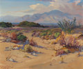 Fine Art - Painting, American:Modern  (1900 1949)  , FRED GRAYSON SAYRE (American, 1879-1939). California Valley inBloom. Oil on canvasboard. 24-1/2 x 29-1/2 inches (62.2 x...