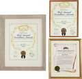 Movie/TV Memorabilia:Awards, A José Ferrer Group of Citations, 1940s-1950s.. ... (Total: 3Items)
