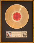 Music Memorabilia:Awards, Wham Make It Big RIAA Gold Record Award (Columbia 39595, 1984)....