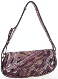 Luxury Accessories:Accessories, Burberry Prorsum Purple Python & House Check Canvas Lilford Bag . ...