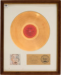 Music Memorabilia:Awards, Bob Dylan Self Portrait RIAA Gold Record Award (Columbia30050, 1970)....