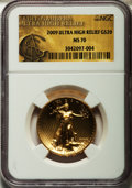 Modern Bullion Coins, 2009 $20 One-Ounce Gold Ultra High Relief Twenty Dollar MS70NGC....
